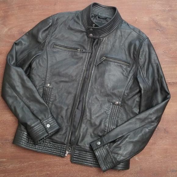 920091304 7 Diamonds Leather Moto Jacket